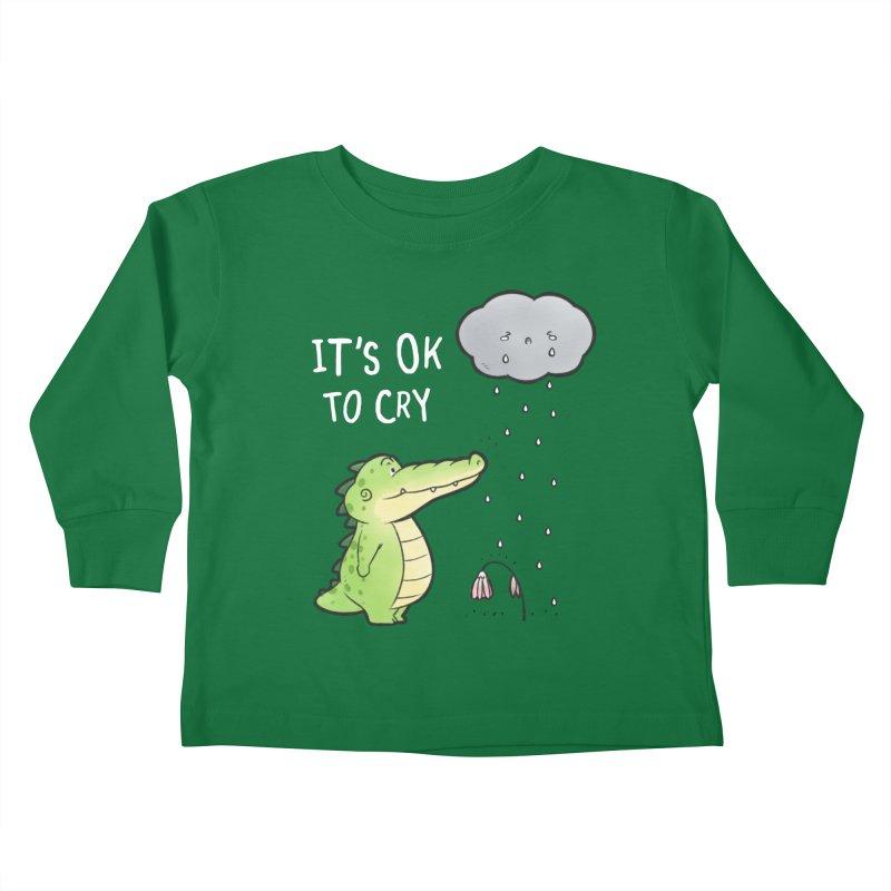 Buddy Gator - It's Ok To Cry, Cloud Kids Toddler Longsleeve T-Shirt by Buddy Gator's Artist Shop