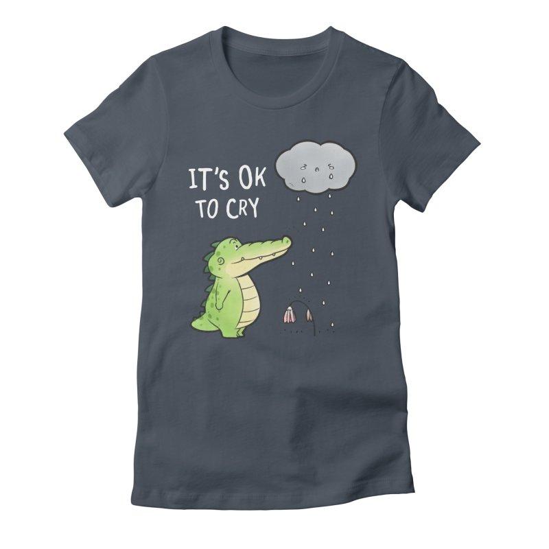 Buddy Gator - It's Ok To Cry, Cloud Women's T-Shirt by Buddy Gator's Artist Shop