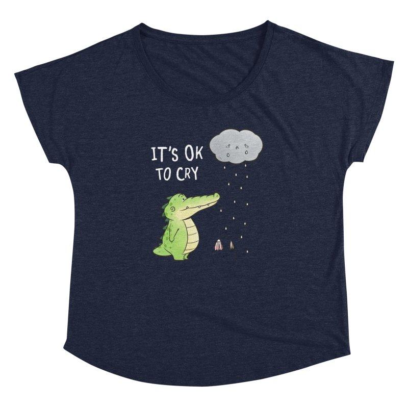 Buddy Gator - It's Ok To Cry, Cloud Women's Scoop Neck by Buddy Gator's Artist Shop