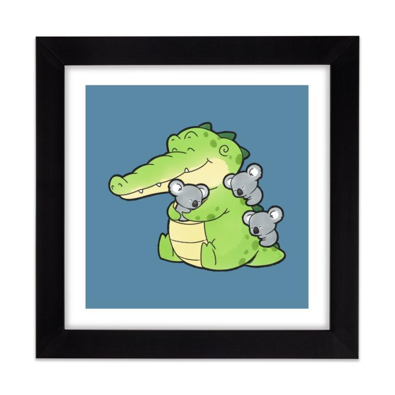 Buddy Gator - Hugs Home Framed Fine Art Print by Buddy Gator's Artist Shop