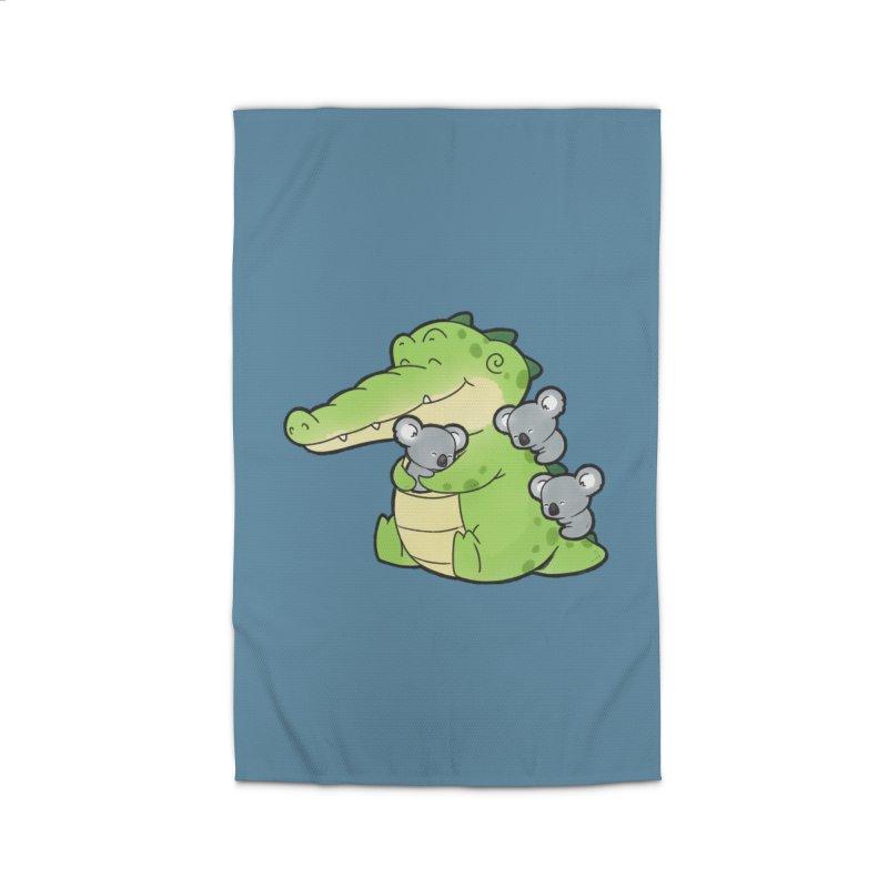 Buddy Gator - Hugs Home Rug by Buddy Gator's Artist Shop