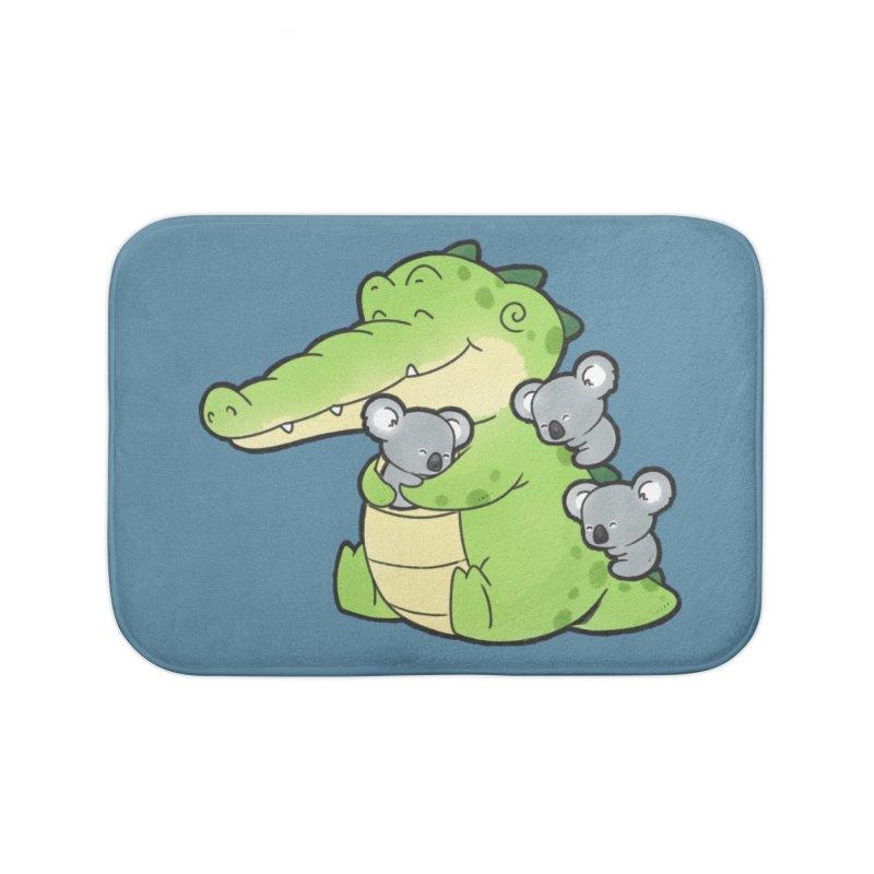 Buddy Gator - Hugs Home Bath Mat by Buddy Gator's Artist Shop