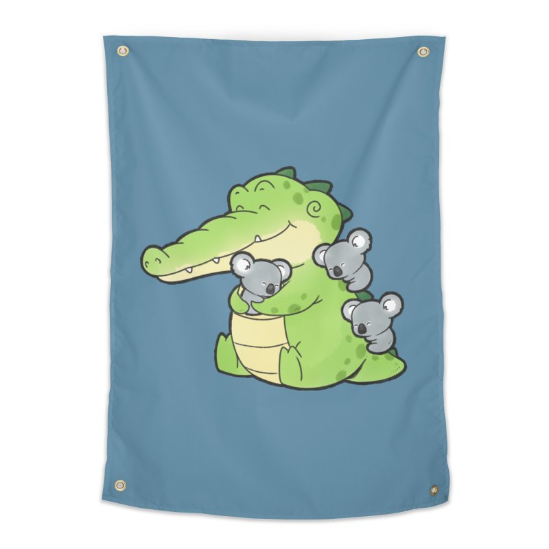Buddy Gator - Hugs Home Tapestry by Buddy Gator's Artist Shop