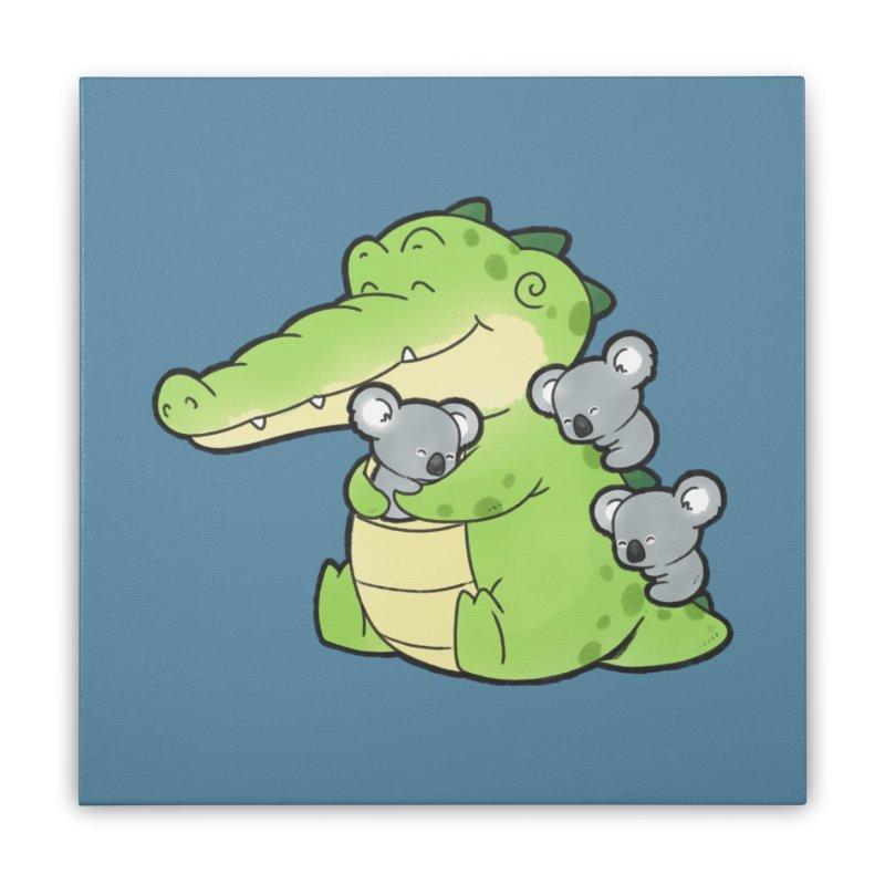 Buddy Gator - Hugs Home Stretched Canvas by Buddy Gator's Artist Shop