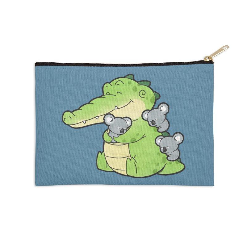 Buddy Gator - Hugs Accessories Zip Pouch by Buddy Gator's Artist Shop
