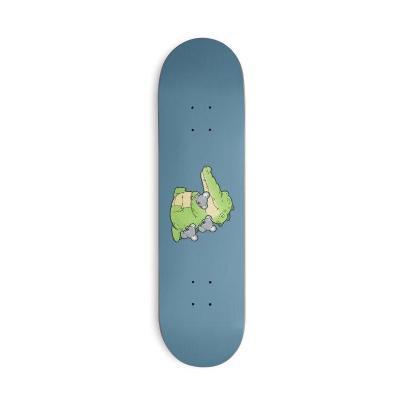 Buddy Gator - Hugs Accessories Skateboard by Buddy Gator's Artist Shop