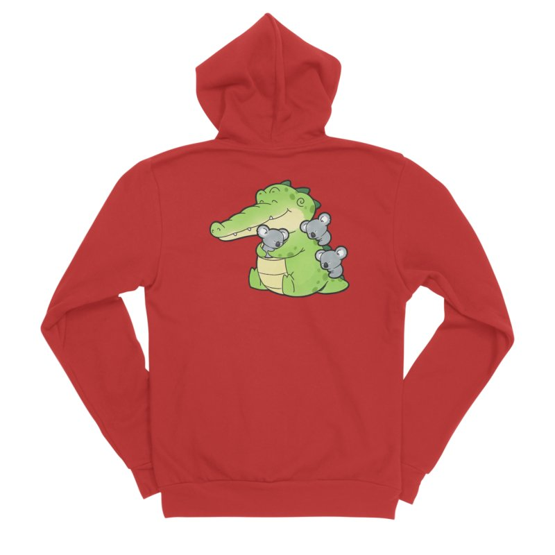 Buddy Gator - Hugs Men's Zip-Up Hoody by Buddy Gator's Artist Shop