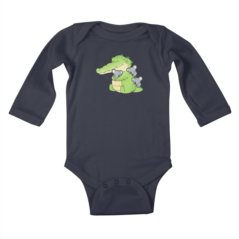 Buddy Gator - Hugs Kids Baby Longsleeve Bodysuit by Buddy Gator's Artist Shop