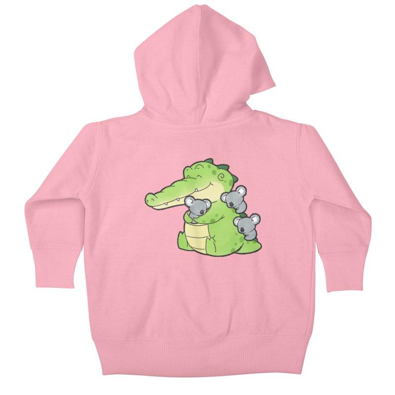 Buddy Gator - Hugs Kids Baby Zip-Up Hoody by Buddy Gator's Artist Shop