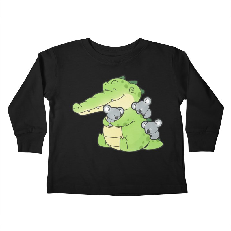 Buddy Gator - Hugs Kids Toddler Longsleeve T-Shirt by Buddy Gator's Artist Shop