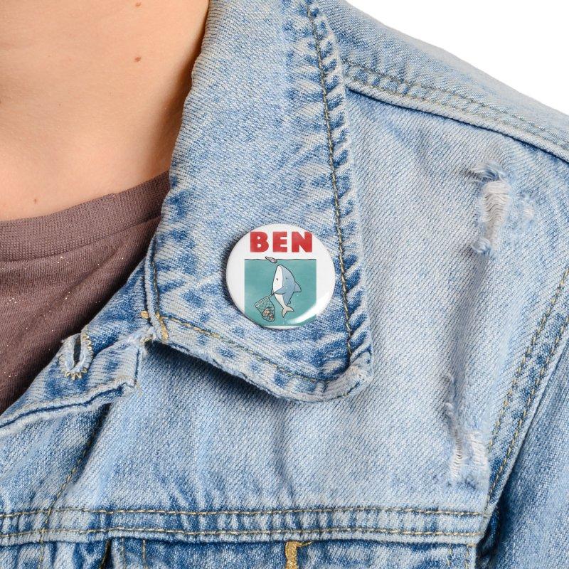 Buddy Gator - Ben Accessories Button by Buddy Gator's Artist Shop