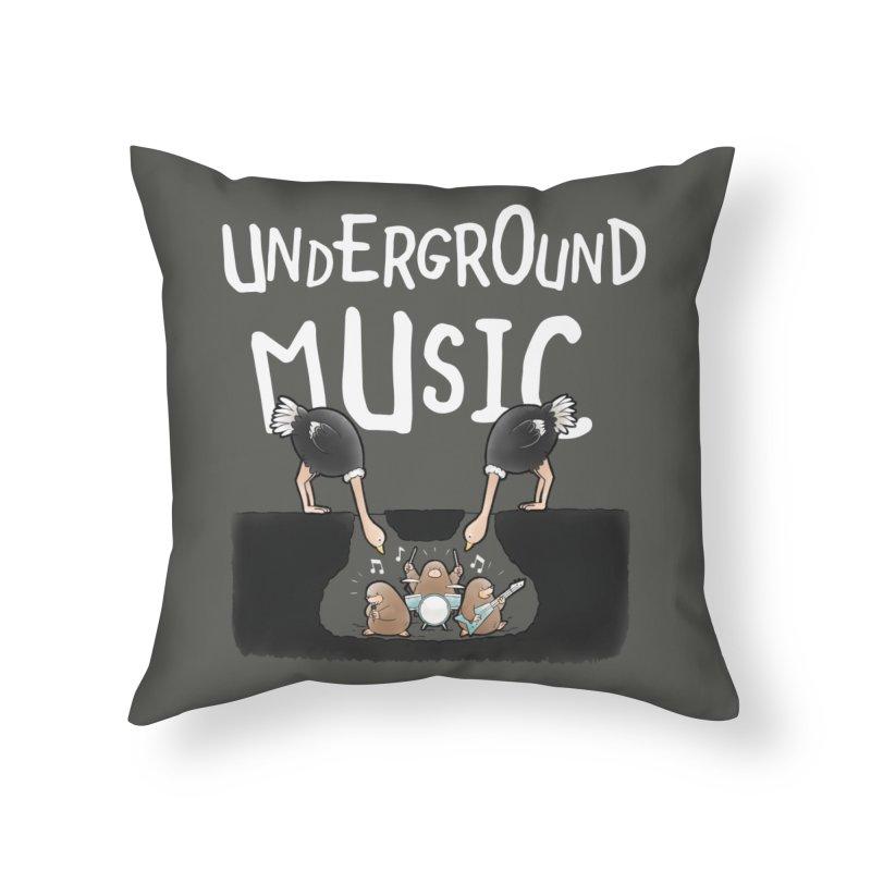 Buddy Gator - Underground Music Home Throw Pillow by Buddy Gator's Artist Shop