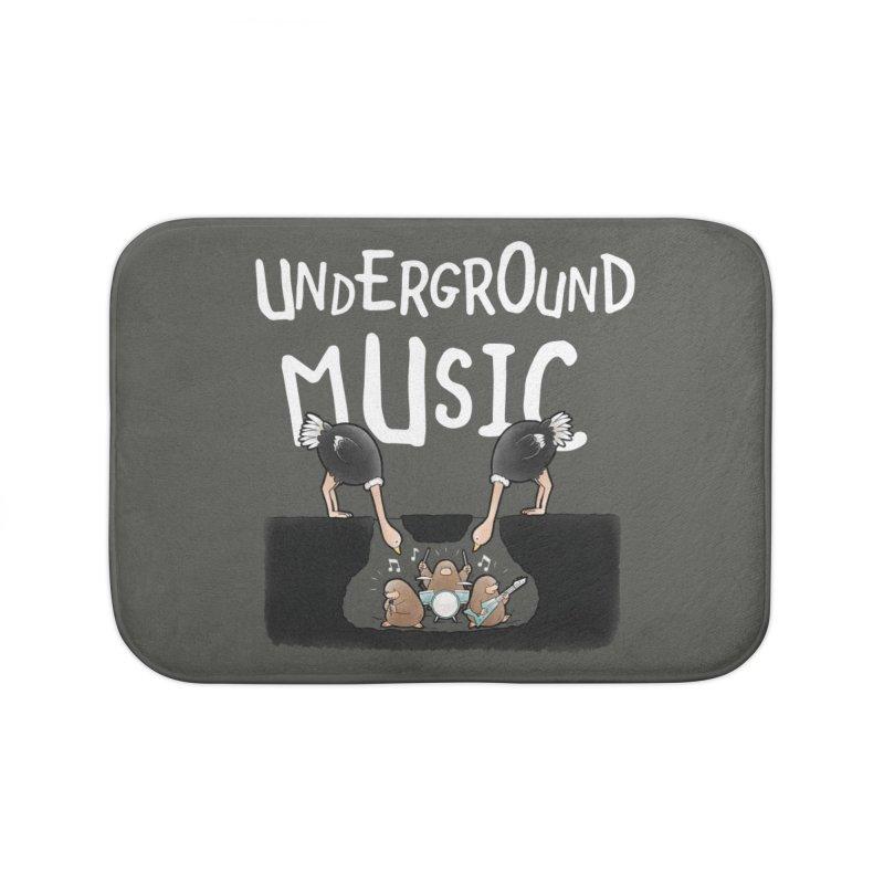Buddy Gator - Underground Music Home Bath Mat by Buddy Gator's Artist Shop