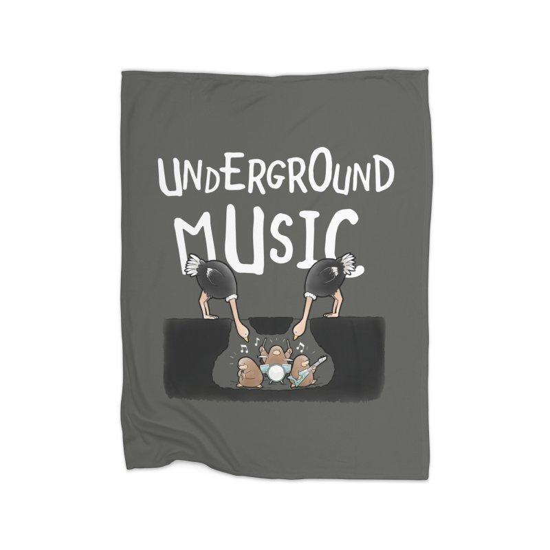 Buddy Gator - Underground Music Home Blanket by Buddy Gator's Artist Shop