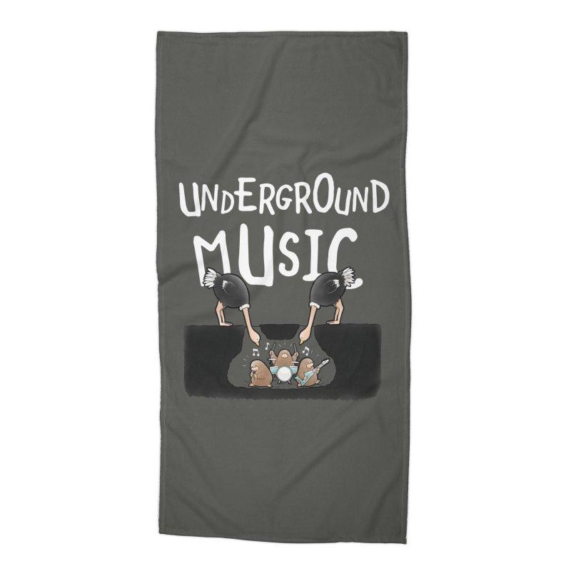 Buddy Gator - Underground Music Accessories Beach Towel by Buddy Gator's Artist Shop