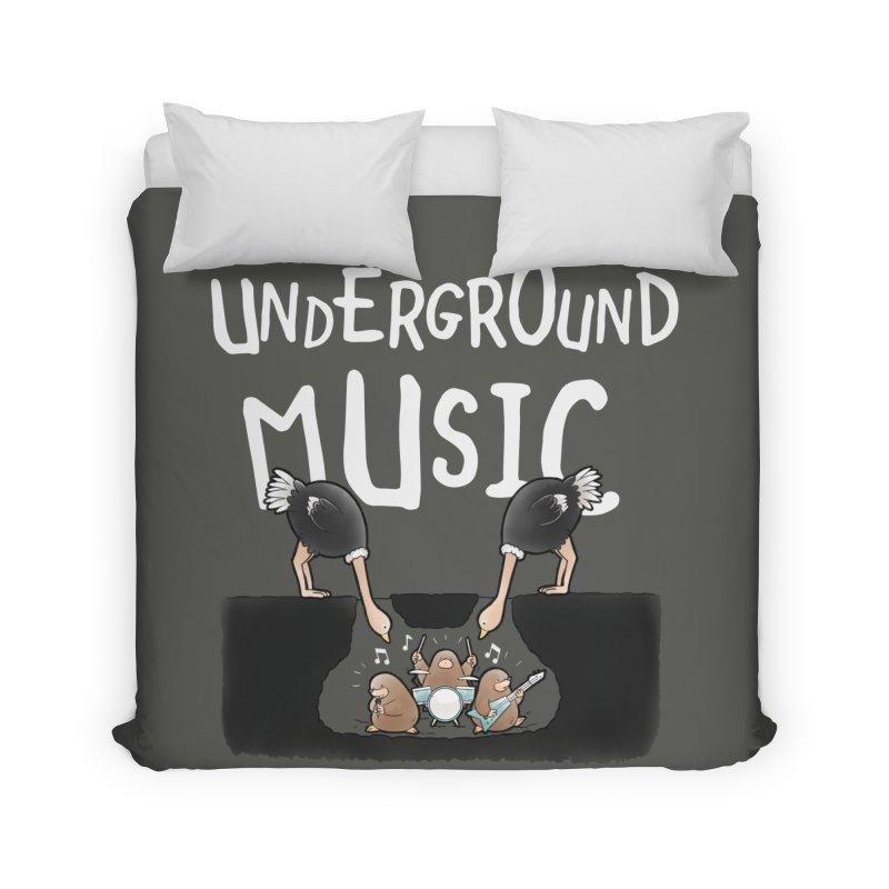 Buddy Gator - Underground Music Home Duvet by Buddy Gator's Artist Shop