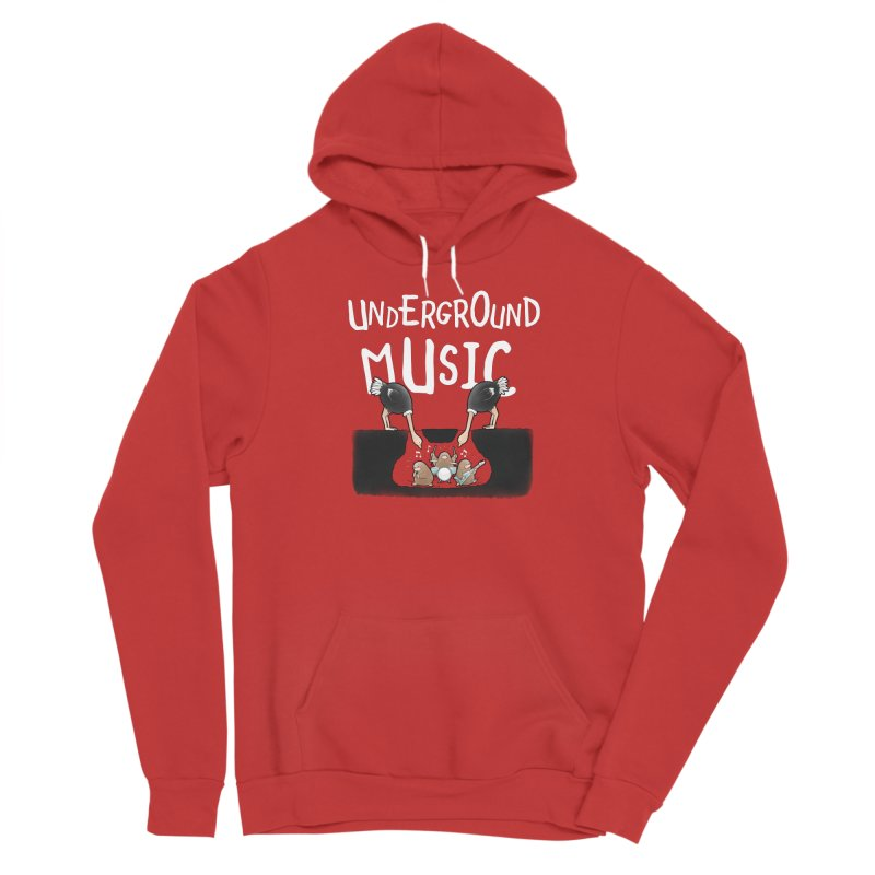 Buddy Gator - Underground Music Men's Pullover Hoody by Buddy Gator's Artist Shop