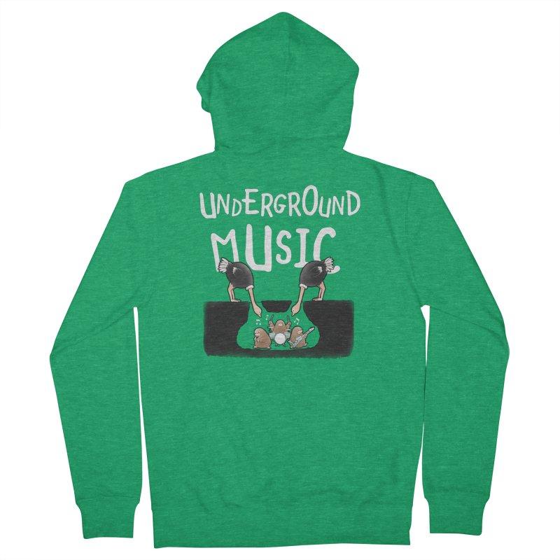 Buddy Gator - Underground Music Men's Zip-Up Hoody by Buddy Gator's Artist Shop