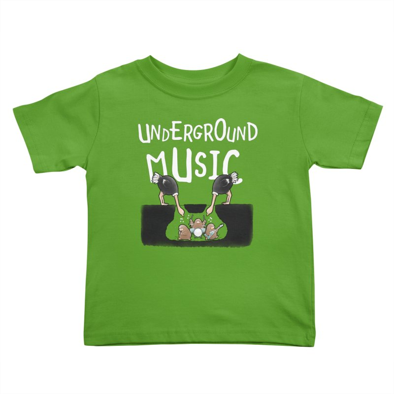 Buddy Gator - Underground Music Kids Toddler T-Shirt by Buddy Gator's Artist Shop