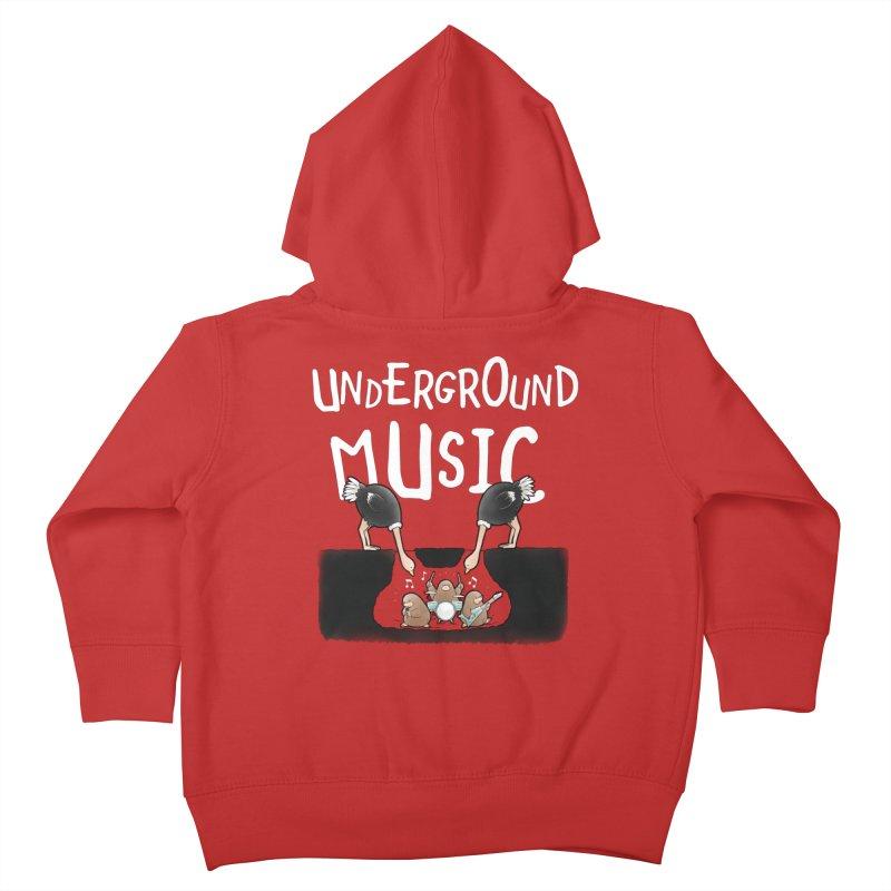 Buddy Gator - Underground Music Kids Toddler Zip-Up Hoody by Buddy Gator's Artist Shop