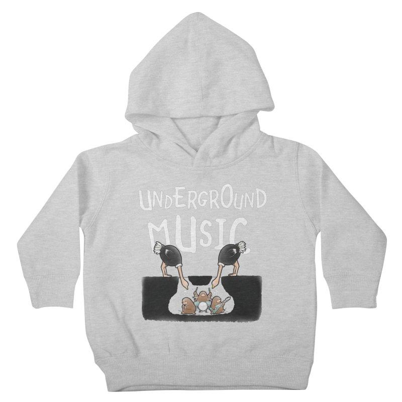 Buddy Gator - Underground Music Kids Toddler Pullover Hoody by Buddy Gator's Artist Shop