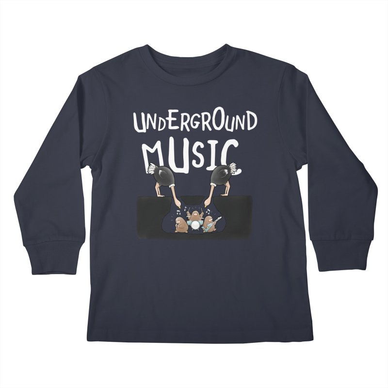 Buddy Gator - Underground Music Kids Longsleeve T-Shirt by Buddy Gator's Artist Shop