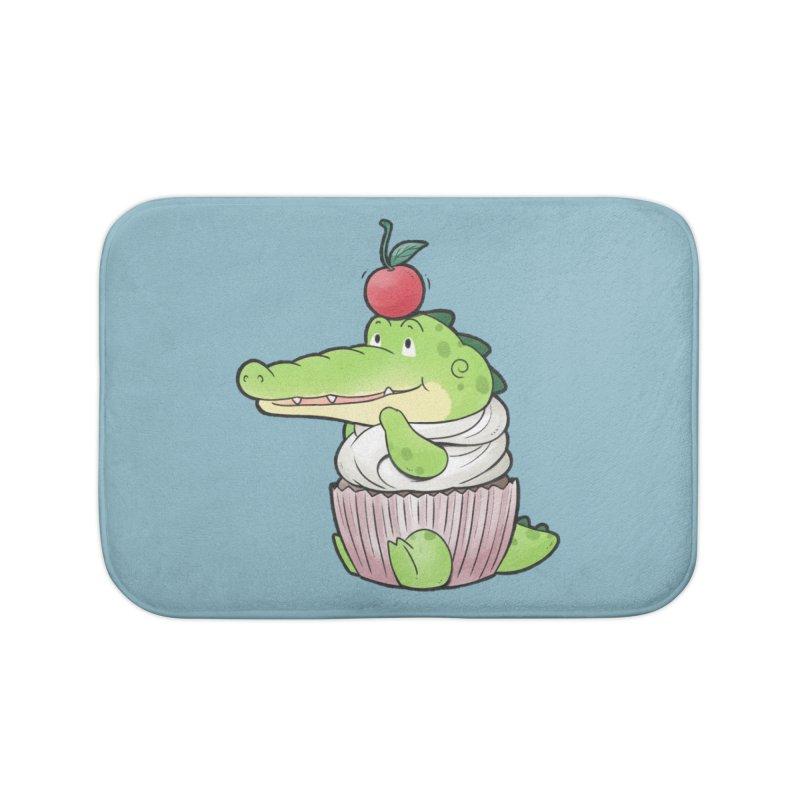 Buddy Gator - Cupcake Lover Home Bath Mat by Buddy Gator's Artist Shop