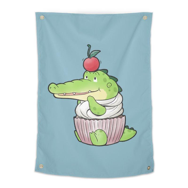 Buddy Gator - Cupcake Lover Home Tapestry by Buddy Gator's Artist Shop