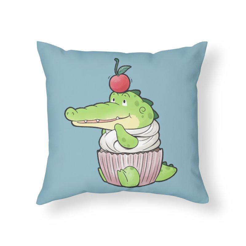 Buddy Gator - Cupcake Lover Home Throw Pillow by Buddy Gator's Artist Shop
