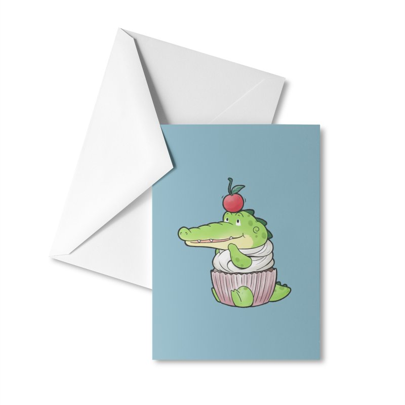 Buddy Gator - Cupcake Lover Accessories Greeting Card by Buddy Gator's Artist Shop