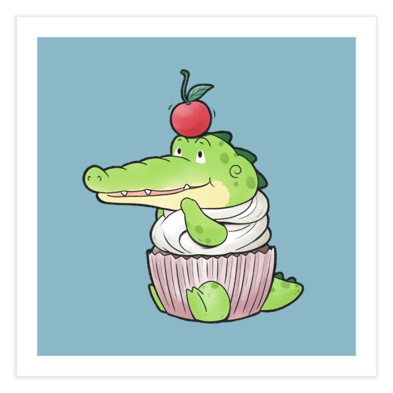 Buddy Gator - Cupcake Lover Home Fine Art Print by Buddy Gator's Artist Shop