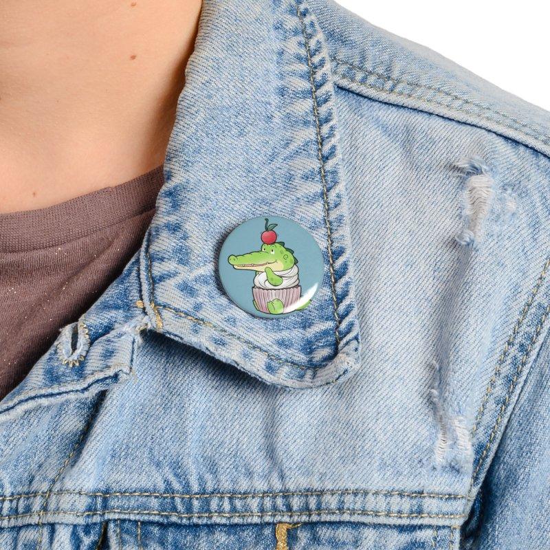Buddy Gator - Cupcake Lover Accessories Button by Buddy Gator's Artist Shop