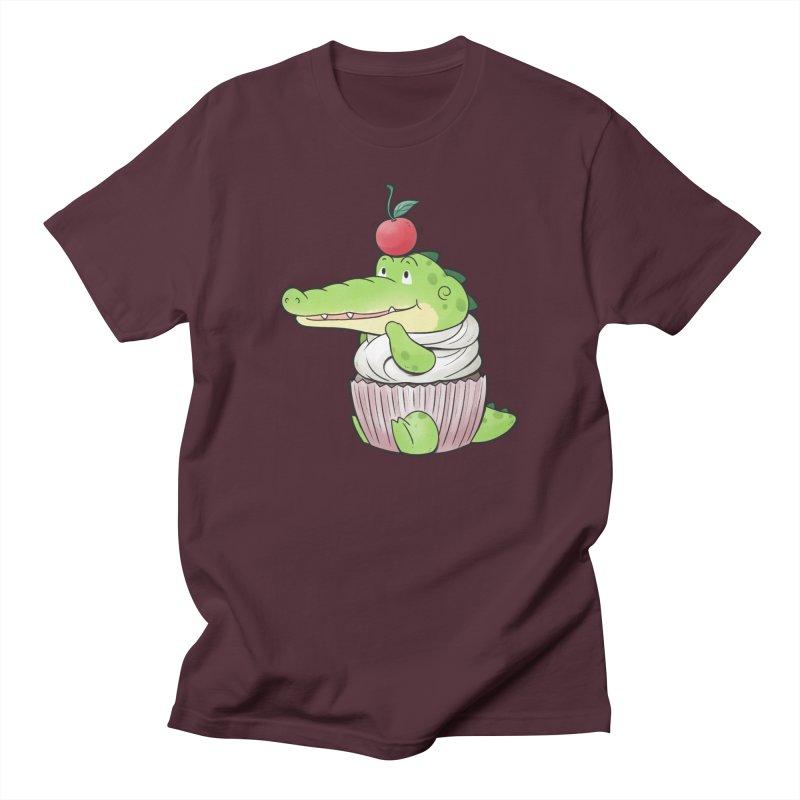 Buddy Gator - Cupcake Lover Men's T-Shirt by Buddy Gator's Artist Shop
