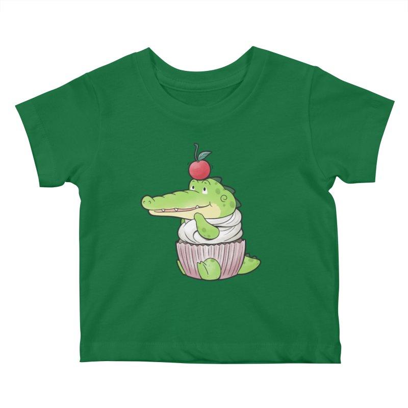 Buddy Gator - Cupcake Lover Kids Baby T-Shirt by Buddy Gator's Artist Shop