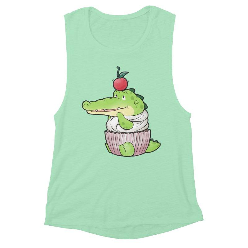 Buddy Gator - Cupcake Lover Women's Tank by Buddy Gator's Artist Shop