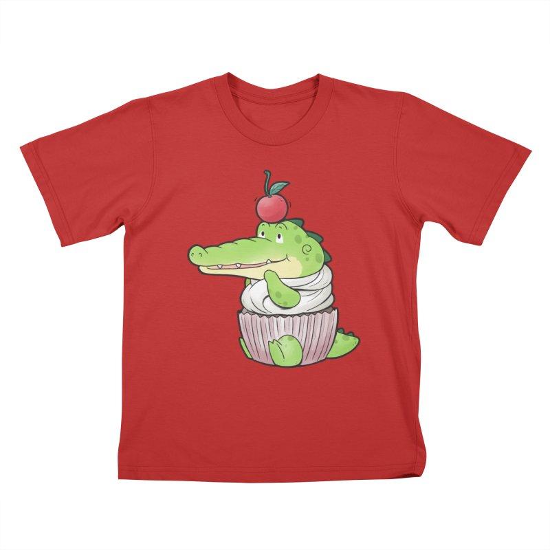 Buddy Gator - Cupcake Lover Kids T-Shirt by Buddy Gator's Artist Shop