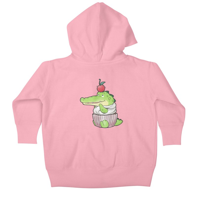 Buddy Gator - Cupcake Lover Kids Baby Zip-Up Hoody by Buddy Gator's Artist Shop