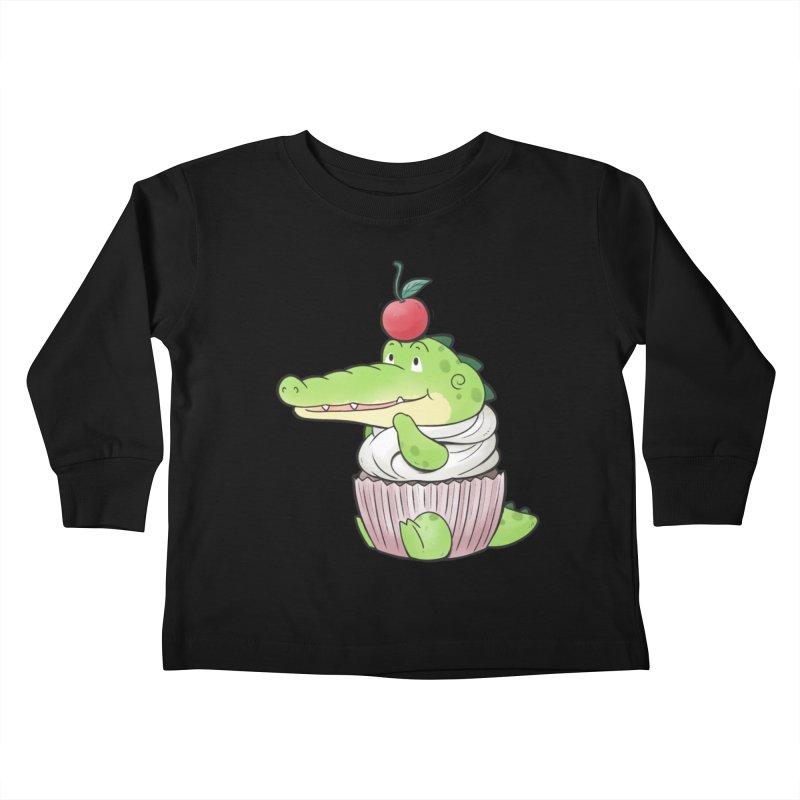 Buddy Gator - Cupcake Lover Kids Toddler Longsleeve T-Shirt by Buddy Gator's Artist Shop