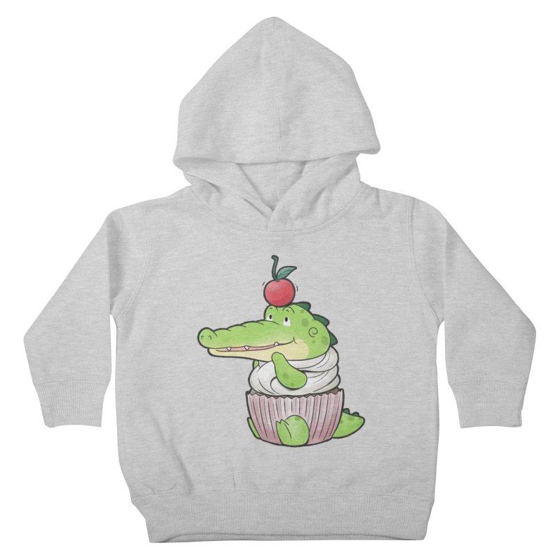 Buddy Gator - Cupcake Lover Kids Toddler Pullover Hoody by Buddy Gator's Artist Shop
