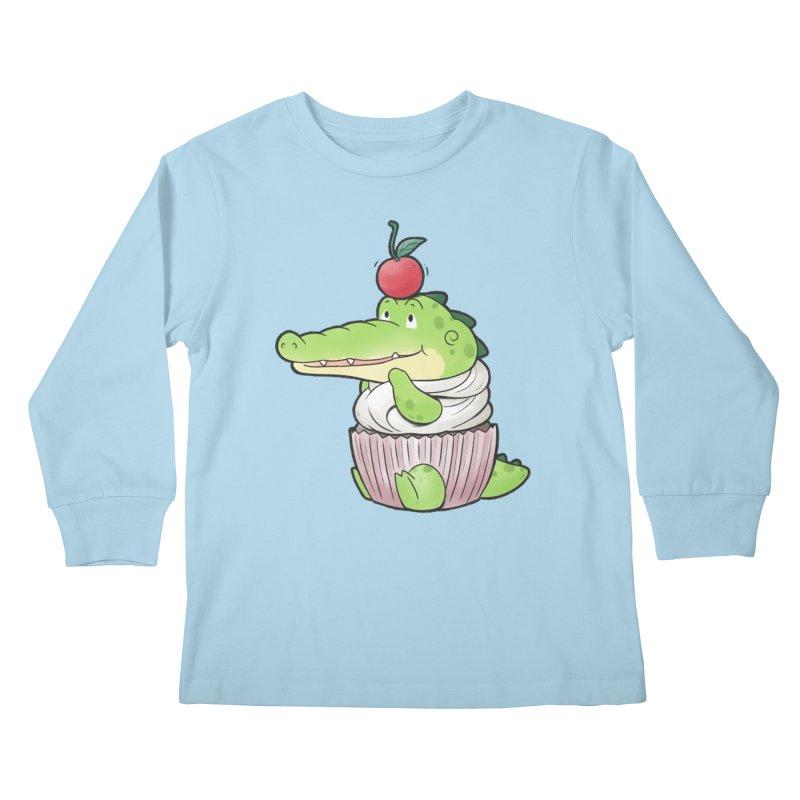 Buddy Gator - Cupcake Lover Kids Longsleeve T-Shirt by Buddy Gator's Artist Shop