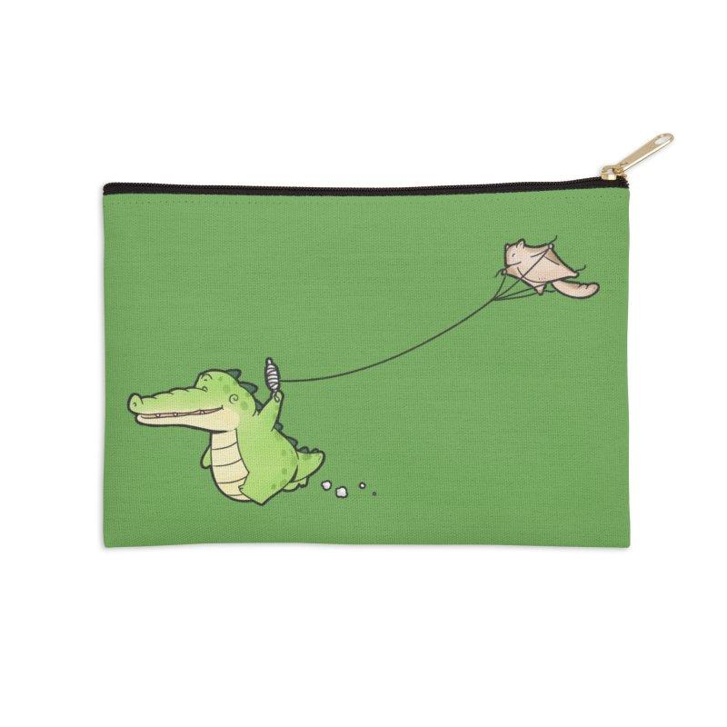 Buddy Gator - Again Accessories Zip Pouch by Buddy Gator's Artist Shop