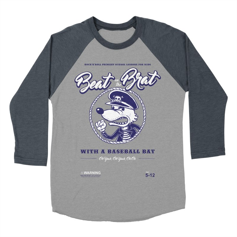 Beat on the Brat Men's Baseball Triblend T-Shirt by buddynishi's Artist Shop