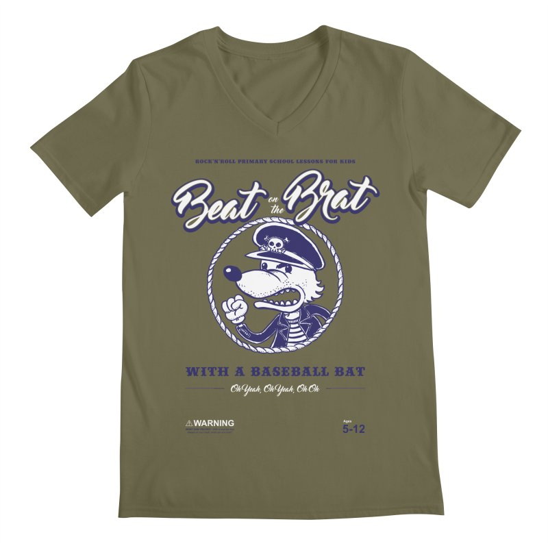Beat on the Brat Men's V-Neck by buddynishi's Artist Shop