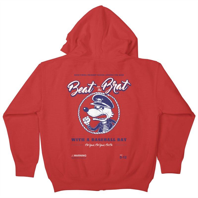 Beat on the Brat Kids Zip-Up Hoody by buddynishi's Artist Shop