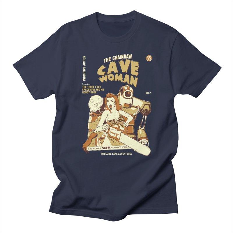 Chainsaw Cavewoman Men's T-shirt by buddynishi's Artist Shop
