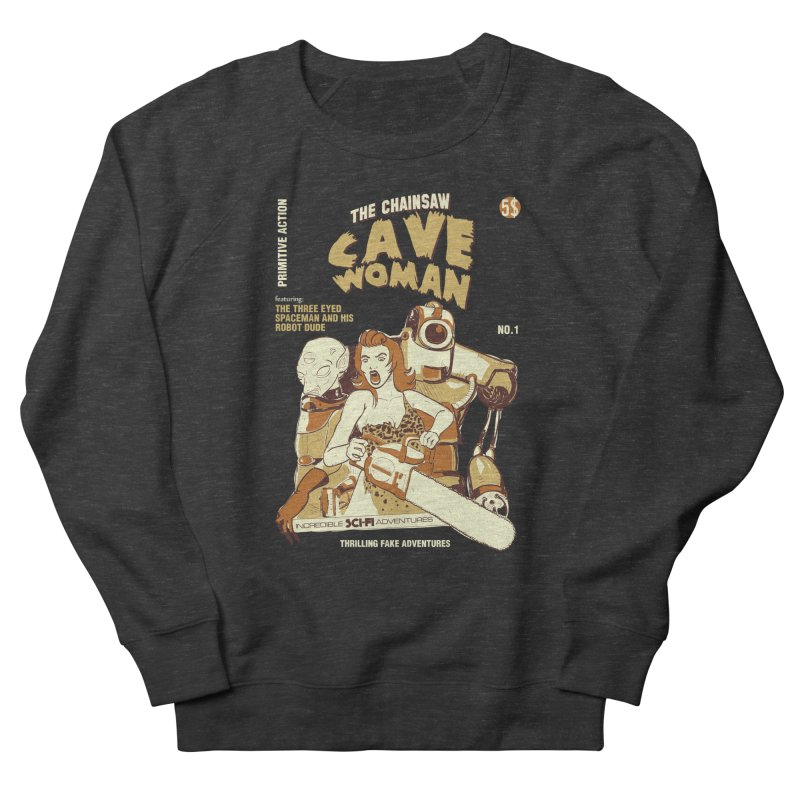 Chainsaw Cavewoman Men's Sweatshirt by buddynishi's Artist Shop