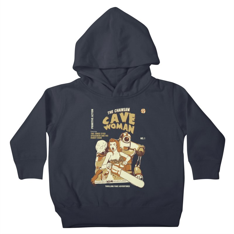 Chainsaw Cavewoman Kids Toddler Pullover Hoody by buddynishi's Artist Shop