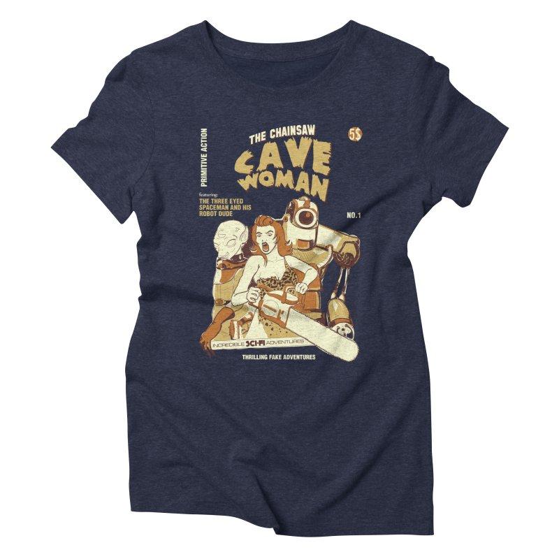 Chainsaw Cavewoman Women's Triblend T-Shirt by buddynishi's Artist Shop