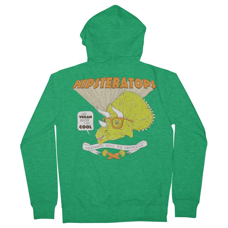 Hipsteratops Men's Zip-Up Hoody by buddynishi's Artist Shop