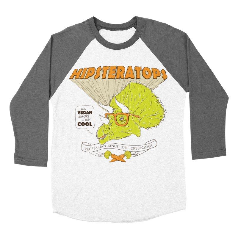 Hipsteratops Women's Baseball Triblend T-Shirt by buddynishi's Artist Shop